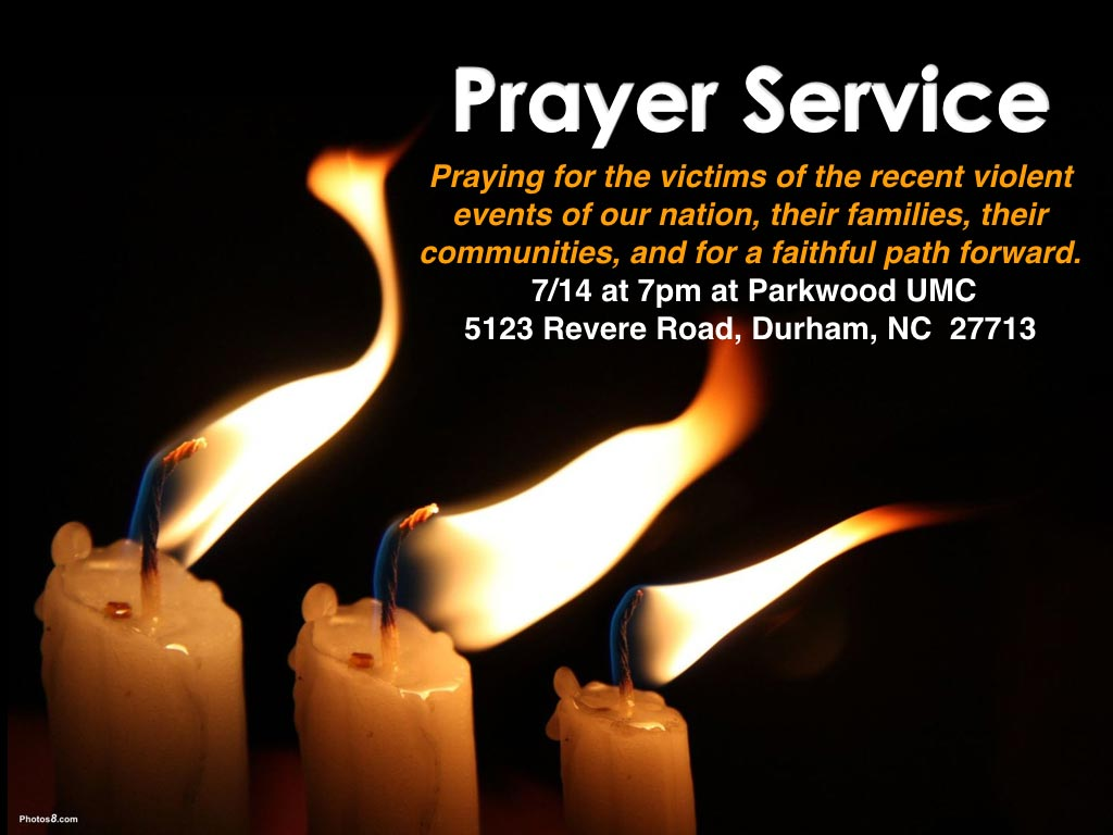 Prayer Service 7-14-2016