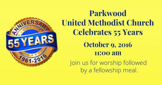 Parkwood United Methodist Church Celebrates 55 years