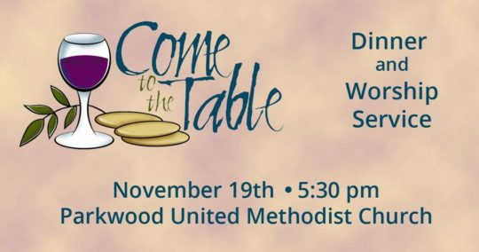 Come to the Table - November 19, 2016