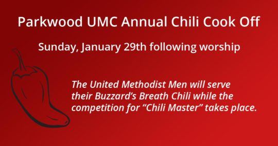 Parkwood UMC Chili Cookoff