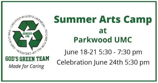 Summer Arts Camp at Parkwood UMC