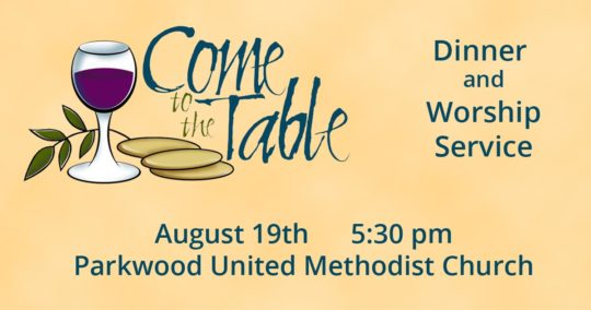 Come to the Table - Worship at Parkwood UMC