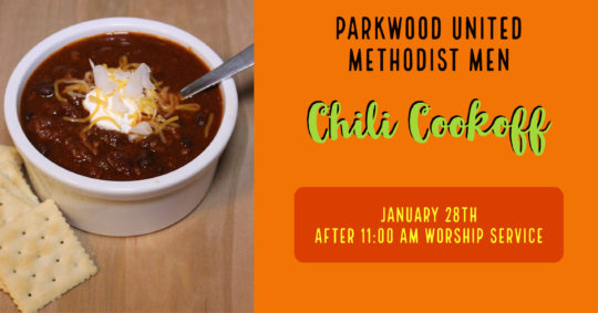 Parkwood United Methodist Men - Chili Cook-Off 2018